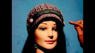 getlinkyoutube.com-gorra a crochet con punto relieve