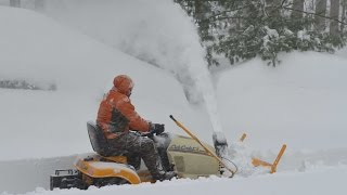 getlinkyoutube.com-Cub Cadet Tractor-Mounted Snow Thrower During Snowzilla (2016)