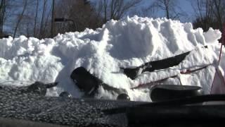 """getlinkyoutube.com-Dodge Cummins with Boss Power V Plows thru 36"""" snow no problem"""