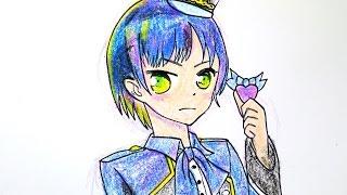 getlinkyoutube.com-How to draw a Girl(Little Wing & Beautiful Pride) 꿈의 라이브 프리즘스톤 강이음 그리기 #001  손그림 색칠하기