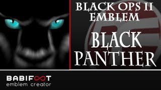 getlinkyoutube.com-COD Black Ops 2 Emblem Tutorial - Black Panther