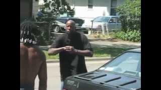 FIGHT VIDEO: Black Crip With Beads Knockout Punches Bald Black Thug Easily!