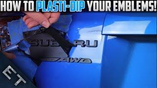 getlinkyoutube.com-How To Plasti Dip Emblems/Badges on Your Car | Step By Step Guide (2014 WRX)