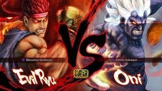 getlinkyoutube.com-Super Street Fighter 4 Evil Ryu vs Oni Gameplay (HD 1080p)