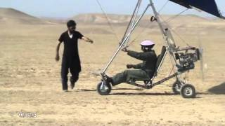 getlinkyoutube.com-home made hang glider trike by Hassan Afhami from Iran First flight