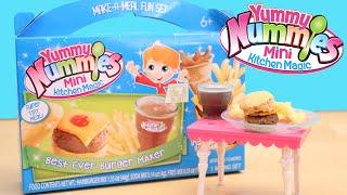 getlinkyoutube.com-Burger Maker Toy Yummy Nummies Best Ever Burger Fries Soda Kit DIY Make Food