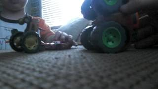 getlinkyoutube.com-Tractor tipping with Lightning McQueen and Mater