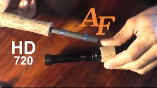 getlinkyoutube.com-How to repair a broken real seat. New reel seat on a rod. Andysfishing Fishing Video Big Fish EP.167