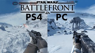 getlinkyoutube.com-Star Wars Battlefront BETA | PC vs PS4 | 4k vs 1080p ULTRA Gameplay Comparison