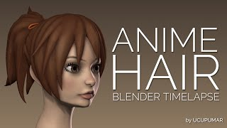 getlinkyoutube.com-Anime Hair - Blender Timelapse