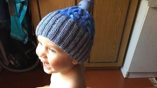 getlinkyoutube.com-Как связать детскую шапку спицами