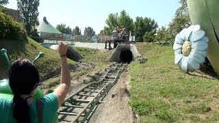 getlinkyoutube.com-World's Longest Wacky Worm Roller Coaster POV Valle degli Gnomi Fiabilandia