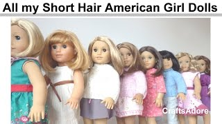 getlinkyoutube.com-All my Short Hair American Girl Dolls ~ Spring 2015 ~ HD