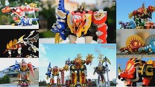 getlinkyoutube.com-All DX Gattai Bakuryuu Sentai Abaranger 2003! DX 爆竜戦隊アバレンジャー! Power Rangers Dino Thunder Megazord!