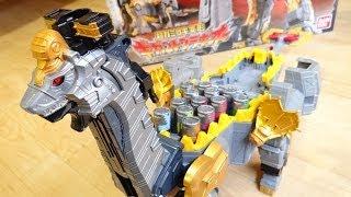 getlinkyoutube.com-巨大獣電竜 DXブラギガス 13本のガーディアンズ獣電池を装填可能!ギガガブリンチョ!獣電池No.10 DXギガントブラギオー レビュー!キョウリュウジャー