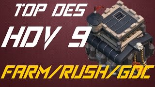 getlinkyoutube.com-Top des bases HDV 9 - Farm/Rush/GDC - Rusher champion !