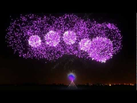 Synchronized Fireworks Show - FWsim Simulator - Crystallize, Lindsey Stirling