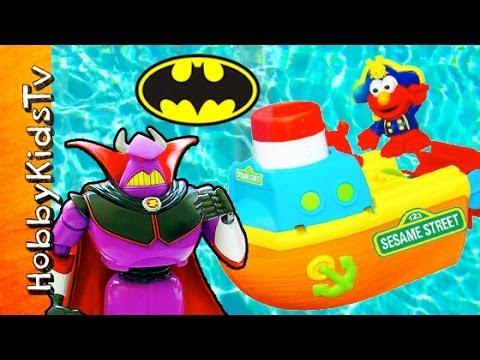 Toy Story ZURG Chases ELMO! Peppa Pig, SpongeBob, Batman Warn Him [Sesame Street] HobbykidsTV