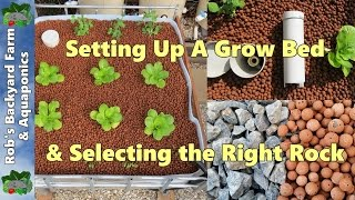 getlinkyoutube.com-How to set up aquaponic grow bed & select the right rock.