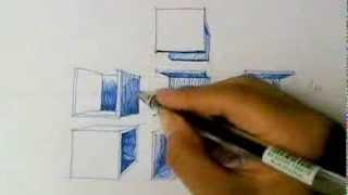 getlinkyoutube.com-Como dibujar cubos en perspectiva