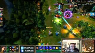 getlinkyoutube.com-Phreak Tons of Damage Pentakill on Stream - League of Legends