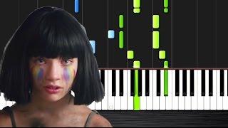 getlinkyoutube.com-Sia - The Greatest - Piano Tutorial by PlutaX