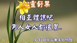 getlinkyoutube.com-心靈舒果--相互體諒吧,男人女人都很累..