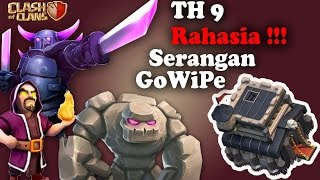 getlinkyoutube.com-Rahasia Serangan GoWiPe pada TH9 !!