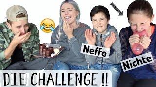 getlinkyoutube.com-DIE CHALLENGE gegen KLEINE NICHTE + NEFFEN ♡ BibisBeautyPalace