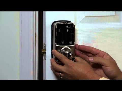 Yale Real Living Lever Lock Installation - Attaching Cable; Interior Escutcheon 04