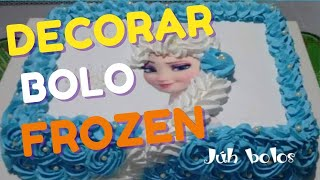 getlinkyoutube.com-Como decorar bolo Elsa Frozen (trança  em Chantilly)