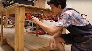 getlinkyoutube.com-Easy Pipe Clamp Storage | Under Your Workbench