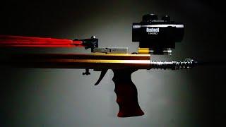 getlinkyoutube.com-FlyWolf Hunting Slingshot Rifle 12 Beams Rubber band Gun - Powerful Slingshot Rifle Shooting Toy