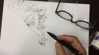 getlinkyoutube.com-Kim Jung Gi 김정기, Doodling pogo stick