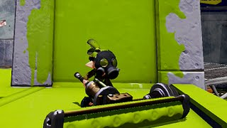 getlinkyoutube.com-SPLATOON GAMEPLAY FOR WIIU: Dynamo Roller One tank of a weapon!