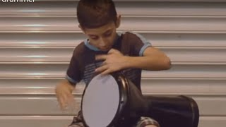 getlinkyoutube.com-Amazing Street Doumbek(Goblet Drum) Kid drummer
