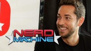 getlinkyoutube.com-Zachary Levi - Nerd HQ Kick-Off Video with Alison Haislip (2013) HD