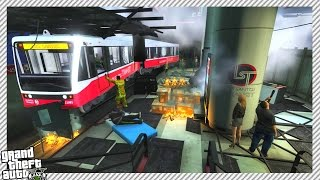 getlinkyoutube.com-Terror Attack on Subway - GTA 5 MOD