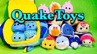 getlinkyoutube.com-Disney Tsum Tsum Finding Dory Bag and Finding Nemo Set Bruce Pearl Baby Dory Destiny Darla QuakeToys