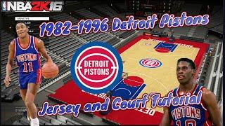 getlinkyoutube.com-NBA 2K16: 1982-1996 Detroit Pistons Jersey and Court Tutorial