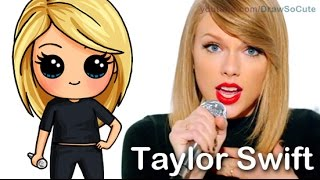getlinkyoutube.com-How to Draw Chibi Taylor Swift Cute step by step Shake It Off Music Video