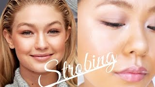 getlinkyoutube.com-Strobing makeup tutorial  ツヤツヤ最強ハイライティング ストロビング☆