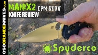 getlinkyoutube.com-Spyderco 2014 Manix2 CPM S110V, Dark Blue C101PDBL2 Knife Review | OsoGrandeKnives