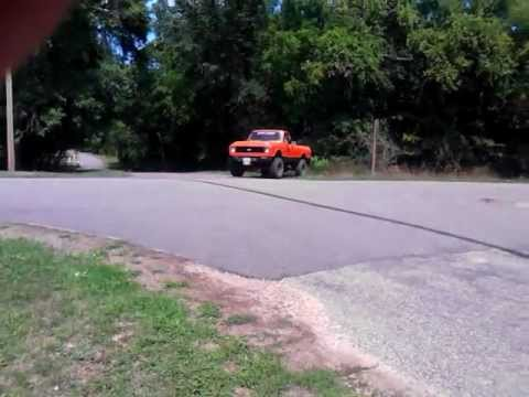 72 CHEVY 4X4 TRUCK IN BROOKS WISCONSIN BURN OUT