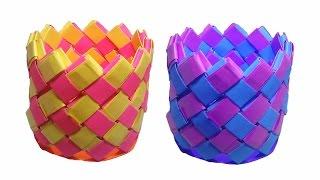getlinkyoutube.com-How to make Paper Vase ( very easy ) : DIY Craft