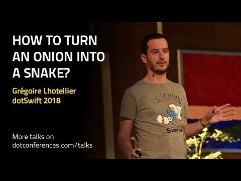 How to turn an onion into a snake?