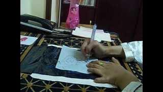 getlinkyoutube.com-طريقة نقل الرسم من الورق الابيض الى القماش