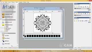getlinkyoutube.com-03- تحويل صورة لفيكتور وحفرها بطريقة V Bit Carving على آرت كام 2008 - ArtCAM 2008