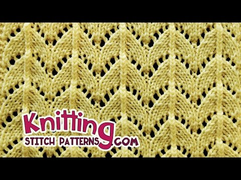 Horseshoe lace stitch | Lace Knitting #28