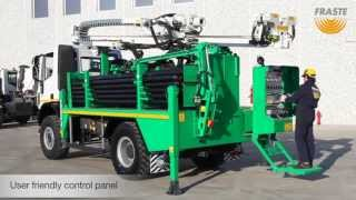 getlinkyoutube.com-Fraste ML 150 Drilling rig on truck with drill pipes manipulator